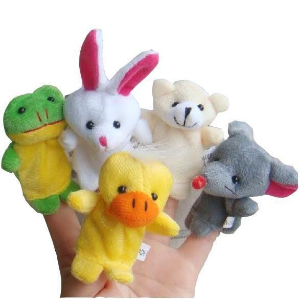 10 Piece Family Finger Puppets