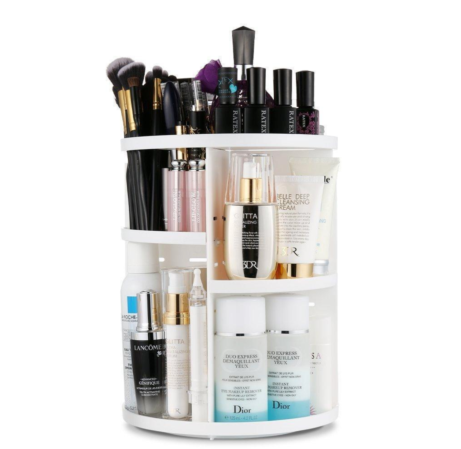 Elle™  Beauty Organizer (360° Rotating Round)