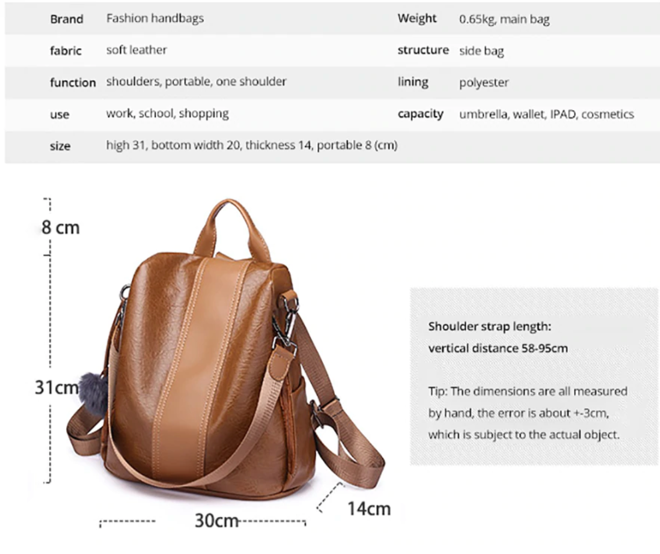 PREMIUM™ Fashion Anti-Theft Waterproof Backpack With Large Capacity [New Arrival - Limited Stock]
