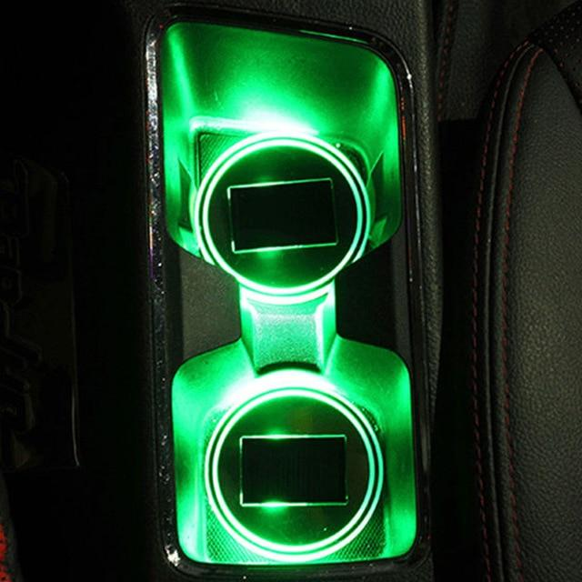 Solar Powered LED Car Cup Holder Lights