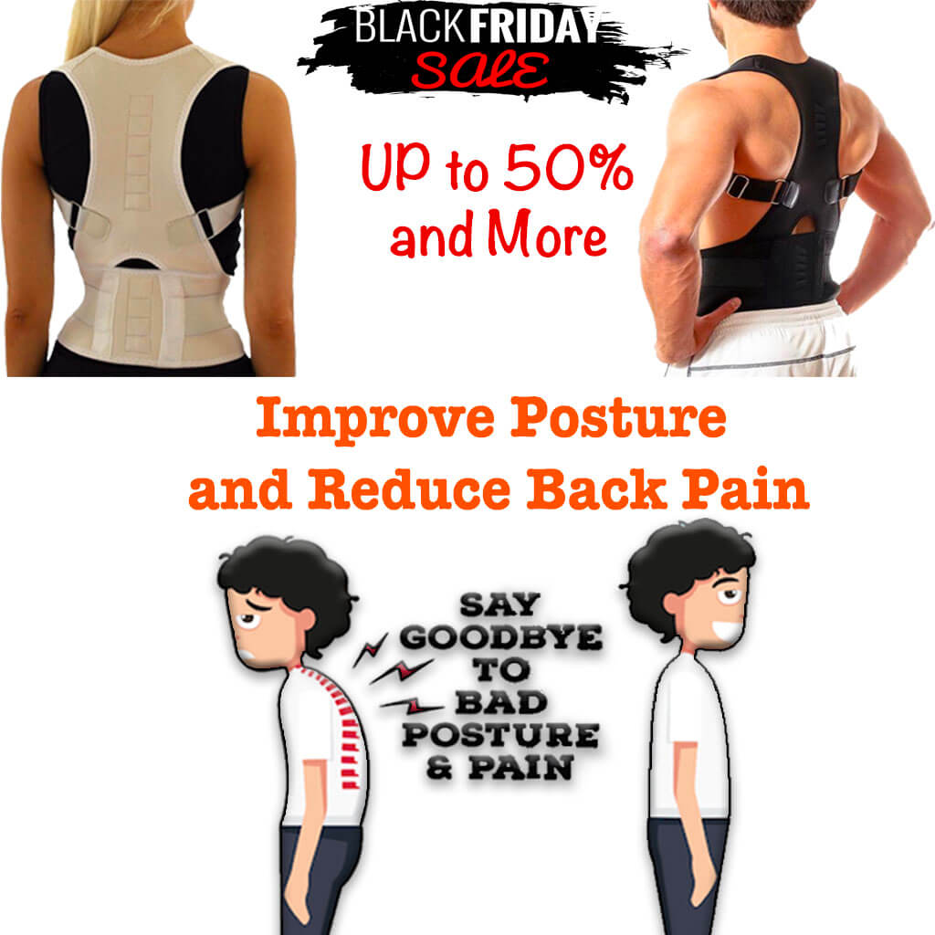 ExTra™ Magnetic Posture Corrective Therapy Back Brace For Men & Women (3XL,4XL)