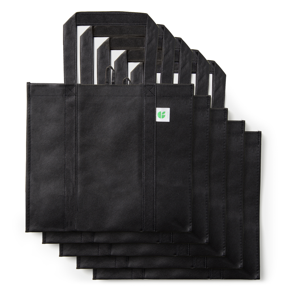 GoGreenBags 5 Pack Reusable Bags: Heavy-Duty Shopping Totes