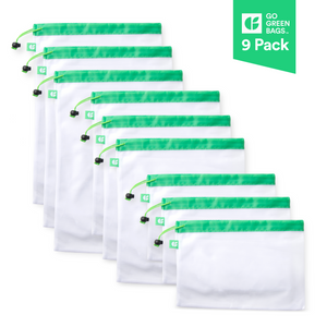 GoGreenBags 9 Pack Reusable Bags: Mesh Produce Bags