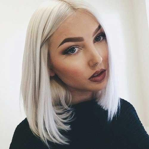Dana Short Bob Wigs White Light Blonde Yaki Straight Synthetic Lace Front Wig