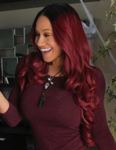Kendra Ombre Wine Red Lace Front Wig