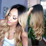 Han Ombre Color Long Curly Wig