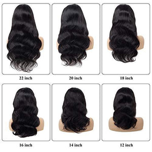 Nivarna 360 Lace Frontal Wig Peruvian Body Wave Human Hair Wig