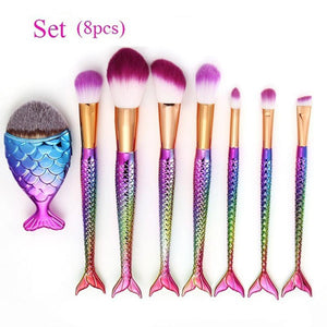 8PCS Make Up Foundation Eyebrow Eyeliner Blush Cosmetic Concealer Brushes