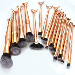 15PCS Make Up Foundation Eyebrow Eyeliner Blush Cosmetic Concealer Brushes
