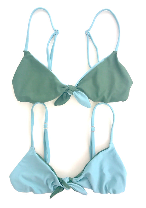 The Kirra Top in Sage and Azul