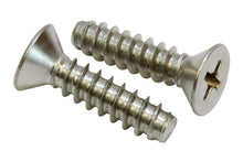 Load image into Gallery viewer, Stainless Flat Head Phillips Wood Screw, Type B Point, 18-8 (304) Stainless Steel Screw - Choose Size & QTY