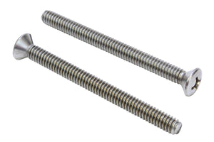 Stainless Phillips Oval Head Machine Screw, 18-8 (304) Stainless Steel, By Bolt Dropper Choose Size & QTY