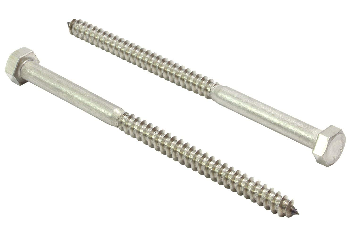 pcs 1//4 x 6 Lag Screws Hex Head Stainless Steel 18-8//304 Set #RD-2818FST Warranity by Pr-Mch Package of 25
