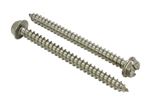Stainless Slotted Hex Washer Head Screw, 18-8 (304) Stainless Steel Screw Coose Size & QTY