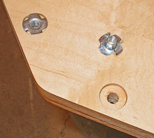 Load image into Gallery viewer, T-Nuts | Choose Size/Quantity | Pronged Tee Nut. for Wood, Rock Climbing Holds, Cabinetry, etc.