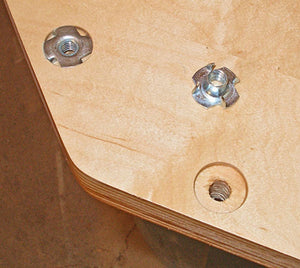 T-Nuts | Choose Size/Quantity | Pronged Tee Nut. for Wood, Rock Climbing Holds, Cabinetry, etc.