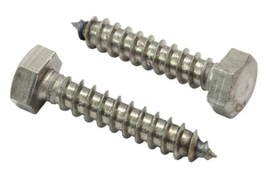 Hex Lag Bolt Screws, Choose Size, 304 (18-8) Stainless Steel, Choose Size & QTY, By Bolt Dropper