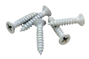 White Xylan Coated Stainless Flat Head Phillips Wood Screw, Choose Size/Length & QTY