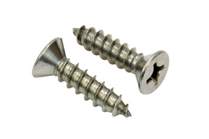 Stainless Flat Head Phillips Wood Screw, Choose Size/Length & QTY, 18-8 (304) Stainless Steel Screw