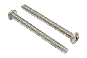 Stainless Pan Head Phillips Machine Screw, 18-8 (304) Stainless Steel Screw By Bolt Dropper - Choose Length & QTY