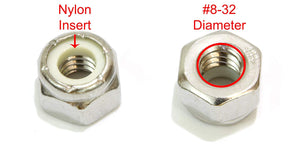 Lock Nut, Stainless Steel, Finish Hex, By Bolt Dropper, 304 18-8 Stainless Steel With Nylon Insert - Choose size & QTY