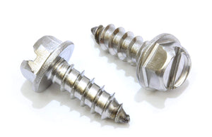 License Plate Screws, For Domestic Cars, License Plates, Frames, and Covers - Choose Size and QTY