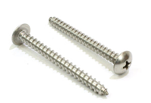 Stainless Truss Head Phillips Wood Screw, (Choose Size & QTY), 18-8 (304) Stainless Steel Screws