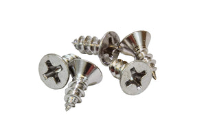 Chrome Coated Stainless Flat Head Phillips Wood Screw, Choose Size/Length & QTY, 18-8 (304) Stainless Steel Screw By Bolt Dropper