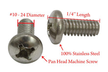 Load image into Gallery viewer, Stainless Pan Head Phillips Machine Screw, 18-8 (304) Stainless Steel Screw By Bolt Dropper - Choose Length & QTY