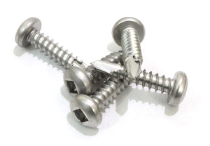 Pan Head Square Drive Sheet Metal Self Tapping Screws, 410 Stainless, Self Drilling Choose Size and QTY