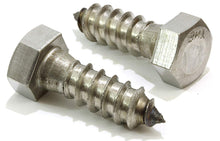 Load image into Gallery viewer, Hex Lag Bolt Screws, Choose Size, 304 (18-8) Stainless Steel, Choose Size & QTY, By Bolt Dropper