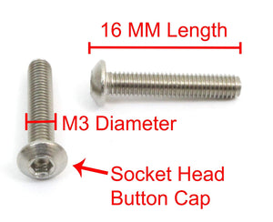 Button Socket Head Cap Screw, Choose Size/Type & QTY By Bolt Dropper