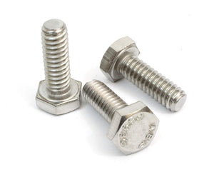 Stainless Steel Hex Bolts 18-8 (304) S/S, Choose Size & QTY - By Bolt Dropper