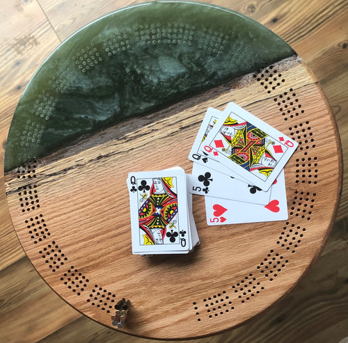 Emerald Green cribbage board