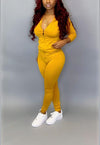 The Active Mustard Jumpsuit