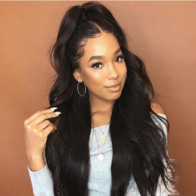 Black Realistic Long Hair Curls