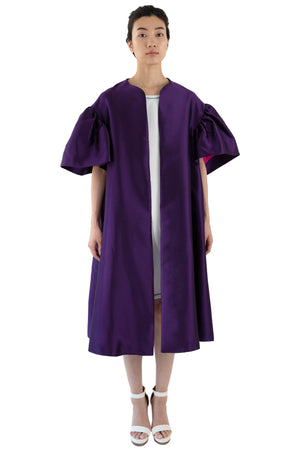 Women's purple opera coat