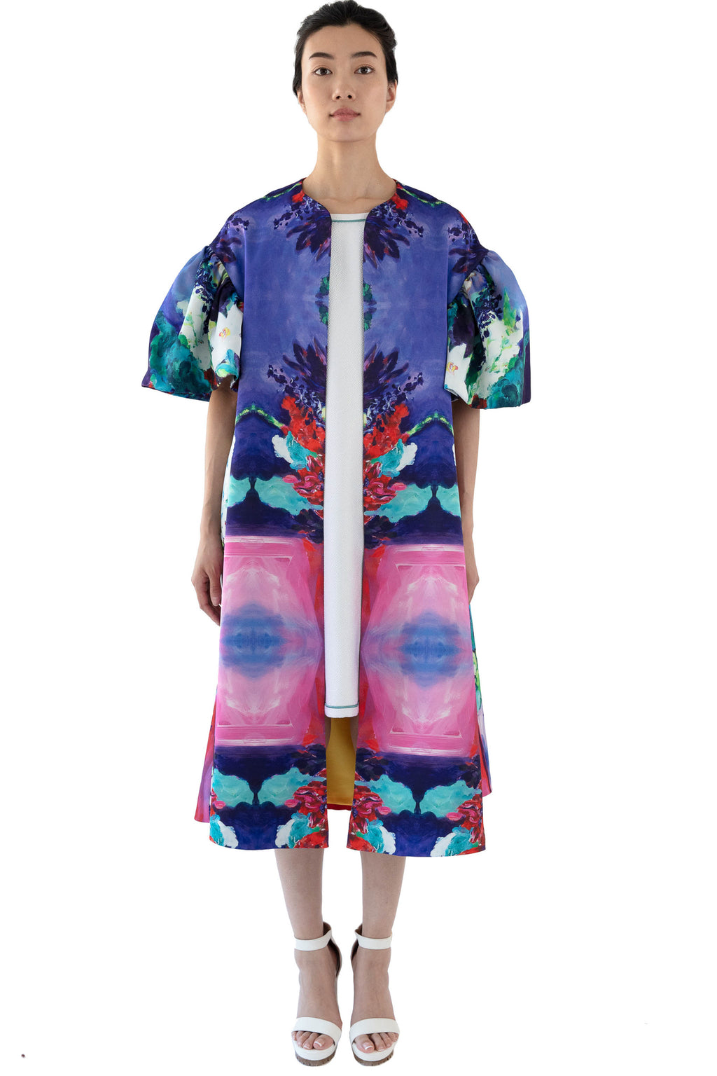 Women's printed opera coat