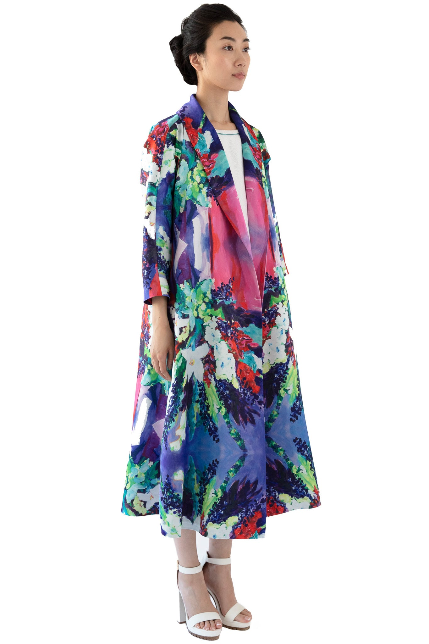 Women's floral print wrap dress
