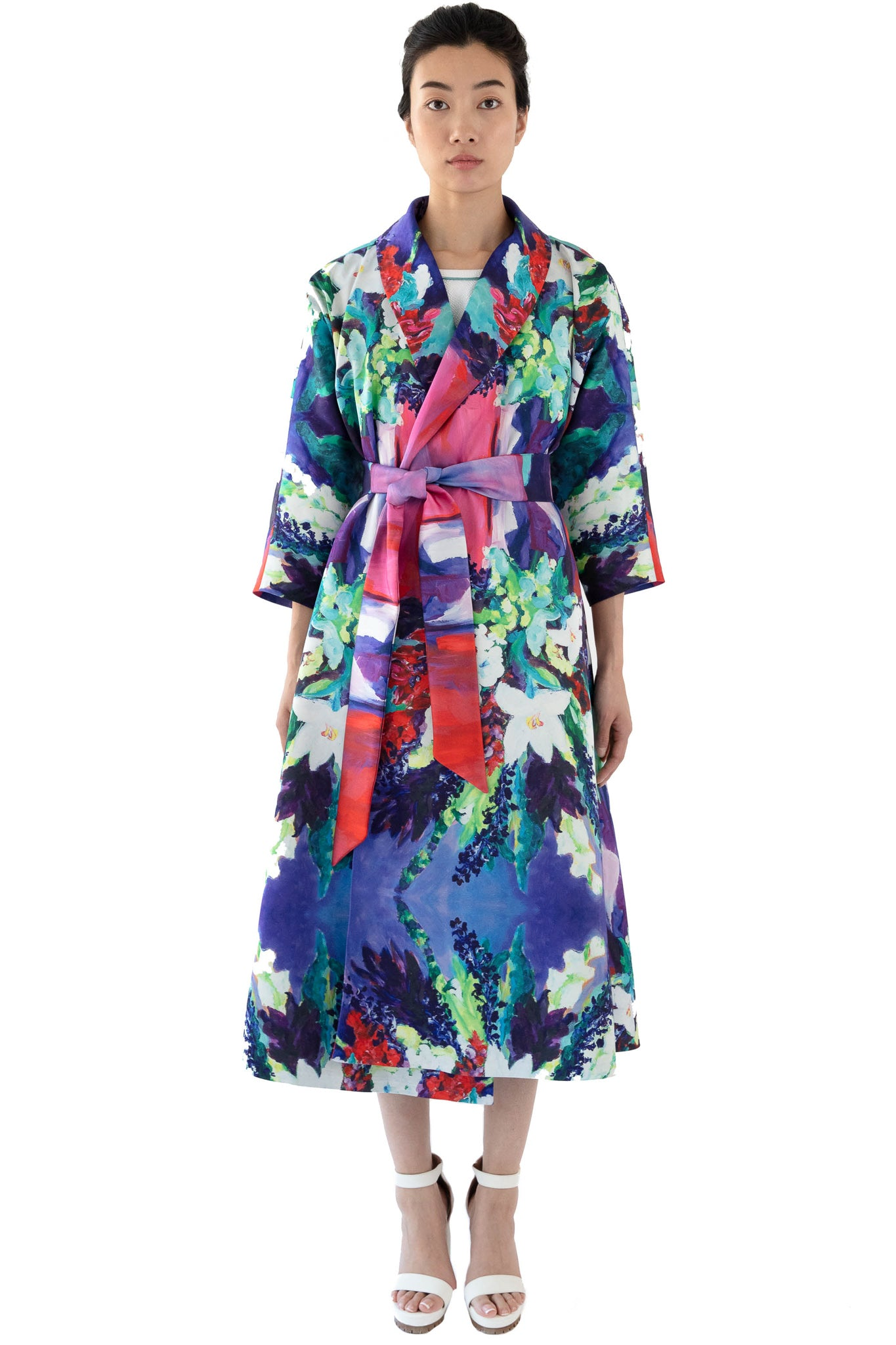 Printed wrap dress in floral print