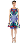 Floral print women's short dress