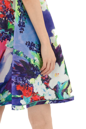 Close up of floral print