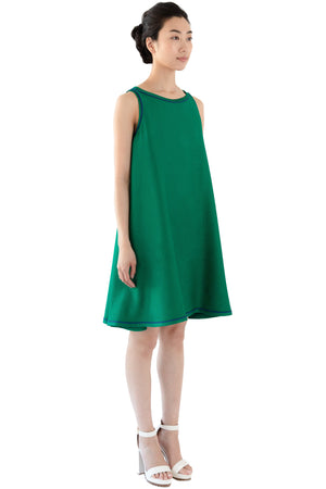 Women's short green dress