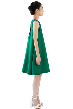 Short green dress with keyhole back