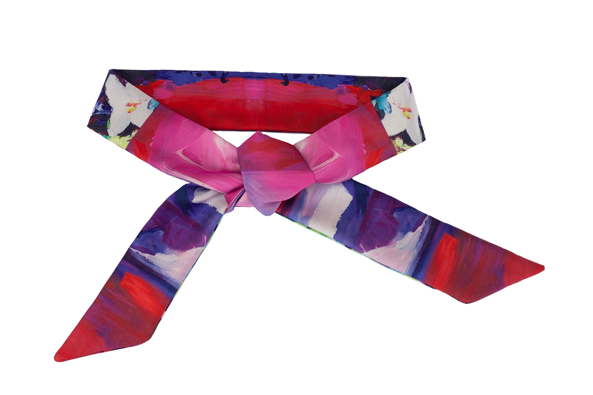 Brightly colored tie belt