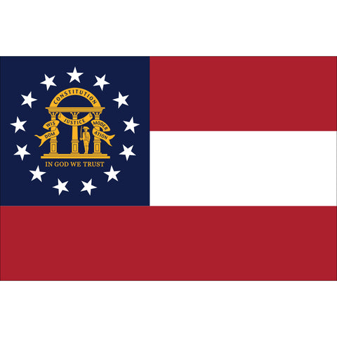 Georgia State Flag Outdoor Nylon