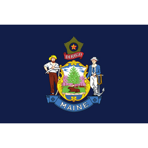 Maine State Flag Outdoor Nylon