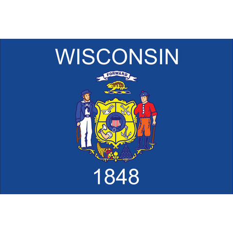 Wisconsin State Flag Outdoor Nylon
