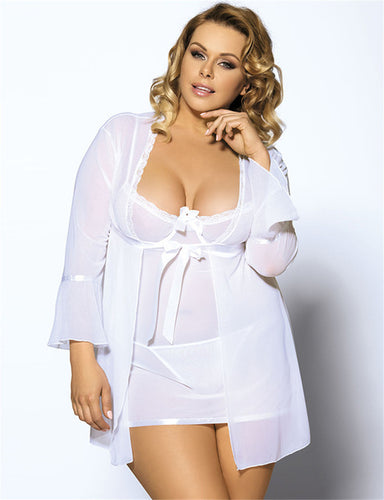 2 colors sexy plus size lingerie high quality soft nightgown 1a0805fc7