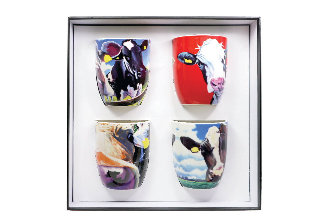 Set of 4 eoin oconnor mugs